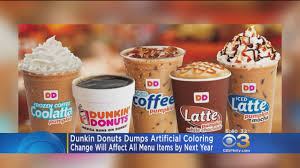 Pumpkin Latte Dunkin Donuts by Dunkin U0027 Donuts To Remove Artificial Colors By End Of 2018 Cbs Philly