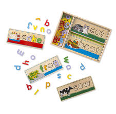 Melissa And Doug Floor Puzzles Target by Amazon Com Melissa U0026 Doug See U0026 Spell Wooden Educational Toy With