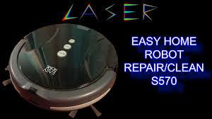 aldi easy home S570 robot vacuum teardown repair and clean