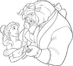 Beauty And The Beast Wedding Themed Coloring Books For Children To Entertain Themselves With