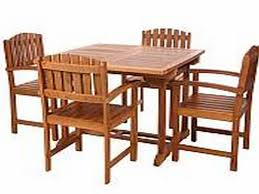 Teak Butterfly Extension Table Set Click For Larger View