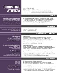 Resumes For Architects