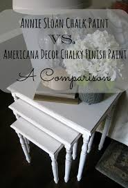 Americana Decor Chalky Finish Paint Colors by Annie Sloan Chalk Paint Vs Americana Decor Chalky Paint