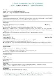 Sample Resume Of Assistant Professor Format For