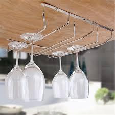 Under Cabinet Stemware Rack Walmart by Wine Glasses Rack 1 3 Row Stainless Steel Wine Glass Rack Hanging