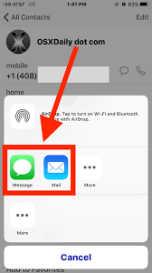 Send Contacts from iPhone to Another iPhone