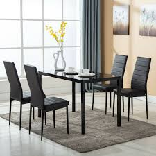 5 Piece Dining Table Set 4 Chairs Glass Metal Kitchen Room Breakfast ... 4 Chair Kitchen Table Set Ding Room Cheap And Ikayaa Us Stock 5pcs Metal Dning Tables Sets Buy Amazoncom Colibrox5 Piece Glass And Chairs Caprice Walkers Fniture 5 Julia At Gardnerwhite Pc Setding Wood Brown Ikayaa Modern 5pcs Frame Padded Counter Height Ding Set Table Chairs Right On Time Design 4family Elegant Tall For Sensational