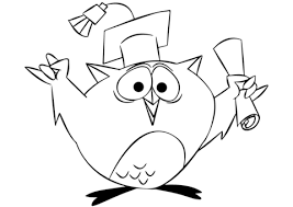 Click To See Printable Version Of Cartoon Owl Graduating Coloring Page