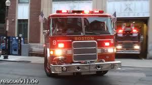 100 Fire Trucks Youtube Boston Department Ladder Truck Responding
