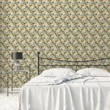 exotische tapete tropical summer mit zitronen kakadus vanille gelbe vlies tapete für flur büro