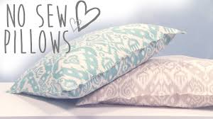 Oversized Throw Pillows For Floor by Diy No Sew Pillows Youtube