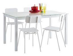 table cuisine extensible table de repas extensible kiara blanc l 110 x h 75 x p 70