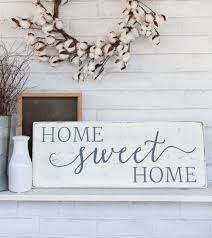 Home Sweet Sign Rustic Wood Wall Decor House Warming Gift