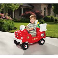 Little Tikes Spray & Rescue Fire Truck Foot To Floor Ride On ...