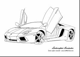 Astounding Lamborghini Aventador Car Coloring Page With Cars And Pages Pdf