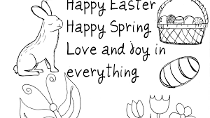 Happy Easter Coloring Pages Save Free Printable Great Fortune Bunny Print