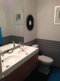 modern 3 4 bathroom with high ceiling flush zillow digs zillow