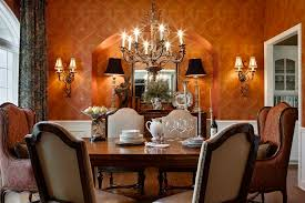 Arched Window In Cool Dining Room Ideas With Chandeliers And Wall Decor Also Upholstered Chairs Formal