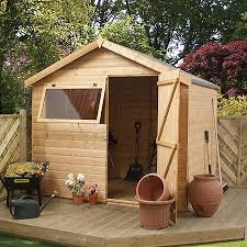6 x 8 waltons tongue and groove reverse apex garden shed waltons