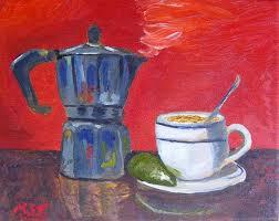 Art Cuban Coffee Lime By Artist Maria Soto Robbins