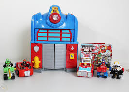 100 Rescue Bots Fire Truck Transformers House Mobile Headquarters And