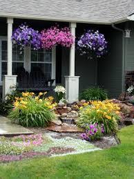 Flowers Yellow Purple Water Garden Design Grass