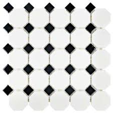 Home Depot Merola Penny Tile by Merola Tile Metro Penny Matte White With Black Dot 9 3 4 In X 11