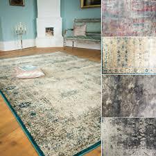 details zu teppich vintageteppich wohnzimmer retro orient modern design türkis beige bunt