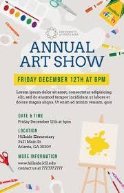 School Art Show Flyer Template For Festival