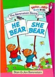 Berenstain Bears Halloween Book by He Bear She Bear By Stan Berenstainjan Berenstain Scholastic
