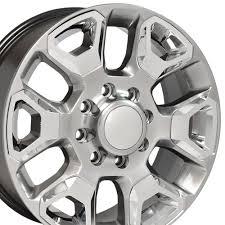 100 Black And Chrome Rims For Trucks 20x8 Rim Fits Dodge RAM 8 Lug Hyper Silver W Wheel