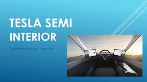 100 Semi Truck Mirrors Tesla Semi Unveil Truck Interior Driver Middle Of Truck No Side