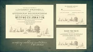 Camping In The Woods Wedding Invitation