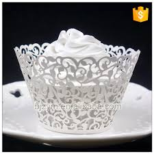 How To Make Your Cupcake More Beautiful Laser Cutting Vine Design White Paper Wrapper Wrappers For Wedding Baby Shower On Aliexpress