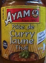 pate de curry jaune thai ayam