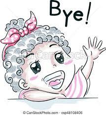 Kid Girl Wave Goodbye csp