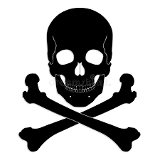 Download Silhouette Skull And Crossbones Stock Illustration