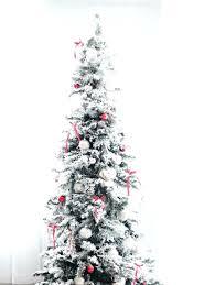 Flocked Slim Pre Lit Christmas Tree 7 5 Spruce