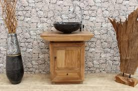 waschtisch unterschrank massivholz teakholz waschbecken