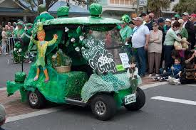 Golf Cart St Patrick s Day Parade by Donald Baird Blog