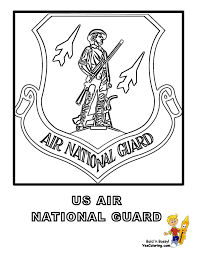 Air National Guard Flag Coloring At YesColoring