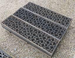 large rare victorian cast iron church floor grilles