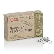 Sams Club Small Deck Box by Acco Recycled Paper Clips 90 Recycled Smooth Size 1 100 Box