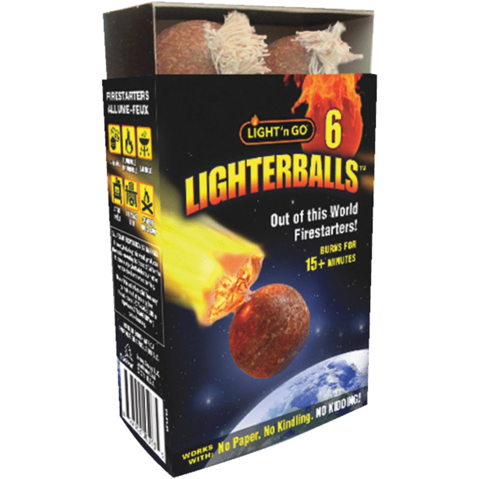 Light'n Go Lighterballs Fire Starter - 6ct