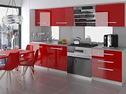 naka24 neu komplette küche kompakto ii 180 cm hochglanz verschiedene farbkombinationen rot