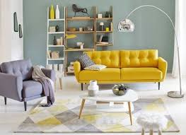 enter freshness using unique yellow living room ideas decor