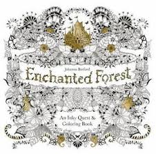 Image Is Loading ENCHANTED FOREST Inky Quest Coloring Book 2015 NEW
