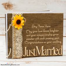 Just Married Wedding Card Messages With Name