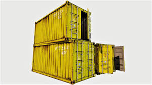 100 Shipping Container Model With Interior 04 3D