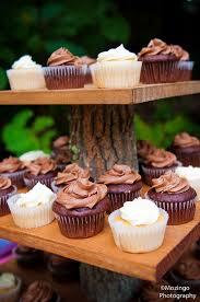 Rustic Wedding Cupcake Stands 4 Tier Wood Slice